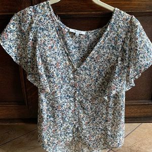 Madewell Floral Button Top